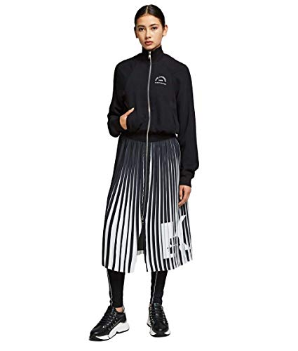 Karl Lagerfeld Kleid Rue St Guillaume Pleated Olivia Palermo schwarz 96KW1302, Schwarz 38