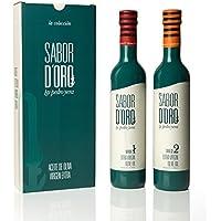 "ACEITE SABOR D'ORO by Pedro Yera ""Verde + Dulce"" - Aceite de Oliva Virgen Extra, Estuche doble con dos botellas de 500ml"