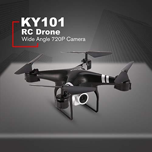 MachinYesity KY101 WiFi FPV Grandangolare 720P Fotocamera Selfie RC Drone Altitude Hold modalità Headless 3D Flip One Key Return Quadcopter Nero