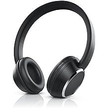 Cuffie Bluetooth CSL 310 | NUOVE 2018 | ingresso jack per utilizzo con cavo|microfono integrato | Comandi volume e chiamata | portata fino a 10m | fino a 10 ore di musica/telefonia | Nere