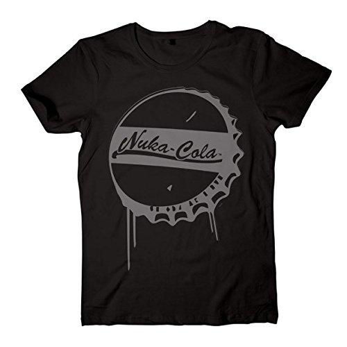 fallout 4 t shirt Fallout Herren T-Shirt Nuka Cola Bottle Cap, Schwarz, XXL