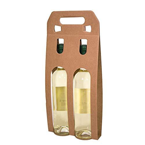 Kartox | Bolsa Estuche Expositor De Cartón | 2 Botellas