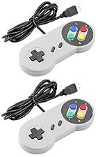 Link-e ® : Retro Gaming : lot de 2 manettes Super Nintendo SNES à branchement USB pour PC