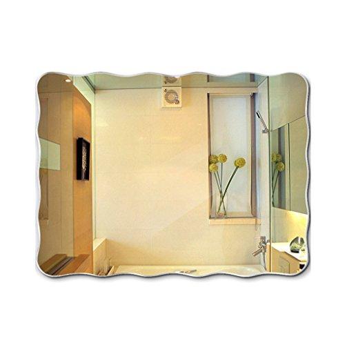 Makeup mirror/mirror Wand- Waschbecken Wand- Badezimmer Spiegel Rahmenlose Waschbecken Spiegel (größe : 60 * 80cm) (Rahmenlose Badezimmer Spiegel)