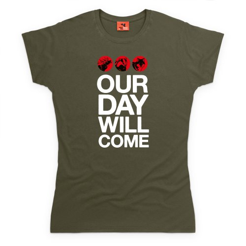 Our Day Will Come T-Shirt, Damen Olivgrn