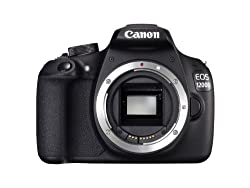 Canon EOS 1200D 18MP Digital SLR Camera (Black) with Body Only, 8GB Card and Carry Case
