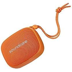 Soundcore Icon Mini par Anker, l'enceinte Bluetooth portative étanche IP67 pour la randonnée, Le Camping, etc. avec 8 Heures d'autonomie, Taille de Poche et Micro intégré