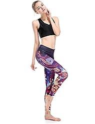HYHAN Pantalon de yoga mode course stretch formation serrée et rapide mobilité gradient sec de pantalons de fitness