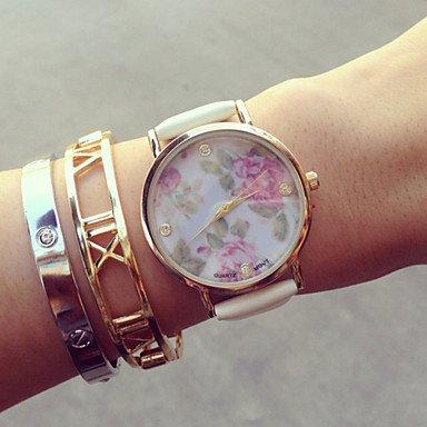 Fenkoo Vintage Blumen-Uhren für Frauen, Frauen Uhren, Frauen Uhren retro, vintage Damenuhren, Geschenke für sie, Geburtstagsgeschenk