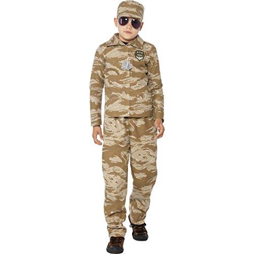 Army Militäruniform Kinder Soldaten Kostüm L 10-12 Jahre 140-158 cm Militär Uniform Krieg Soldat Kinderkostüm Armee Soldatenkostüm Camouflage Soldatenuniform Faschingskostüm Karnevalskostüme (Uniform Soldat Kostüm)