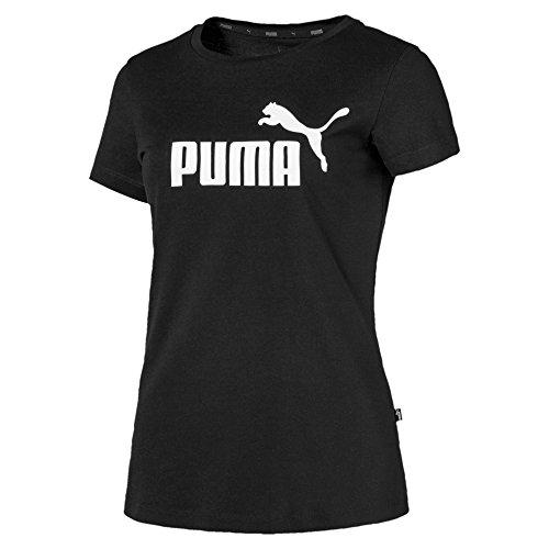 Puma Damen ESS Logo Tee T-Shirt, Cotton Black, XL