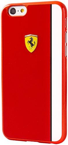 Ferrari FELIHCP6LRE Scuderia Harte Schutzhülle mit Glossy Plattenstreifen für Apple iPhone 6 Plus/6S Plus rot/weiß