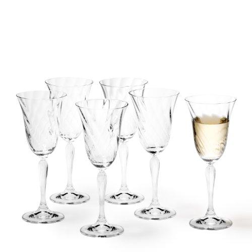 Leonardo Volterra Weißweinglas, 6-er Set, 200 ml, spülmaschinengeeignet, Klarglas, 020764 -