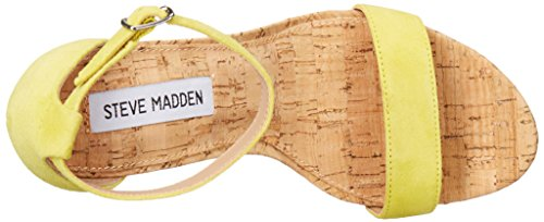 Steve Madden Womens Carson-C Dress Sandal Yellow Suede
