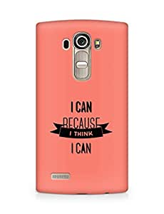 Amez I Can because I Think Back Cover For LG G4