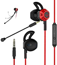 Gaming Headset Headphones with Adjustable Mic Wired in-Ear Headphones E-Sport Earphones for Nintendo Switch, X