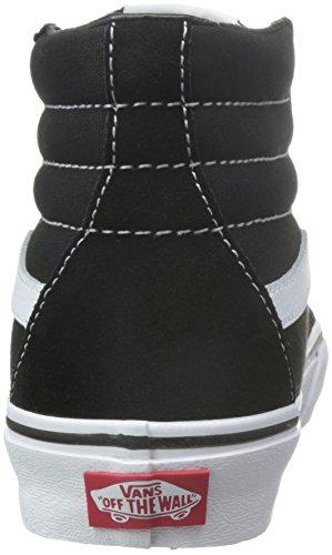 Vans Sk8-Hi, Unisex-Adults' High-Top Trainers, Black(Black/White), 7.5 UK (41 EU)