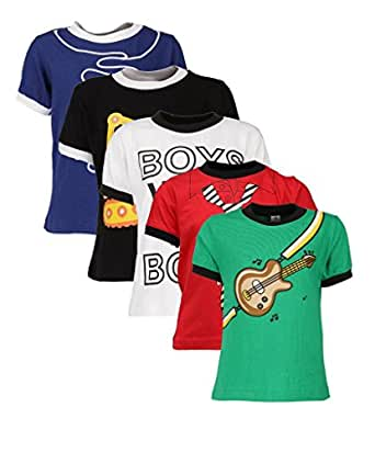 Goodway Senior Boy Attitude 5 Pack Printed T Shirts