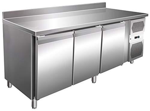 Arbeitstisch Türen (Kühltisch 3 Türen mit Aufkantung Arbeitstisch Kühlschrank Vorbereitungstisch Pizzatisch)