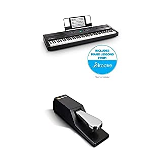 Alesis Recital PRO Digital Piano/Keyboard with 88 Hammer Action Keys and SP-2 Universal Sustain Pedal Super Bundle (B07MP7CTKL) | Amazon price tracker / tracking, Amazon price history charts, Amazon price watches, Amazon price drop alerts