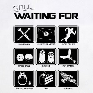 Still waiting for - Stofftasche / Beutel Gelb
