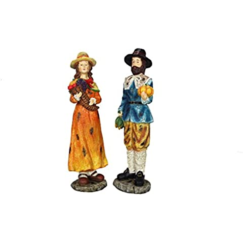 Giovani del Inc giovani della resina Pilgrim 2Piece Figure Set, 12,25
