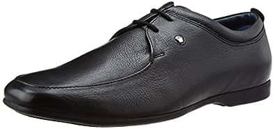Louis Philippe Men's Derby Black Leather Formal Shoes - 7 UK/India (41 EU)