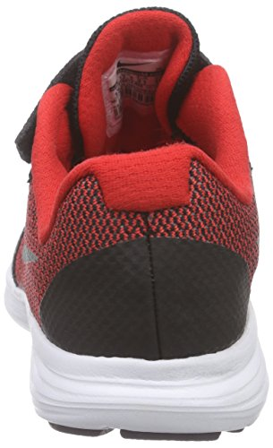 Nike Revolution 3, Running Garçon Rouge (University Red/Metallic Silver/Black/White 600)