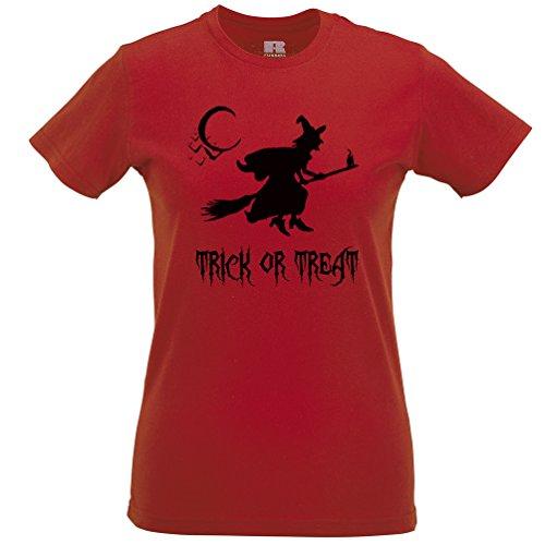 Süßes oder Saures Halloween Scary Kostüm Frauen T-Shirt (12 Tage Von Halloween-musik)