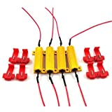4 Stück 6-Ohm-Lastwiderstände, 50 W, für LED-Leuchtmittel z. B. in Blinkern, behebt angezeigte Fehlercodes von Lampen