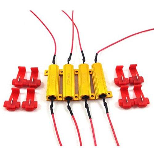 Preisvergleich Produktbild 4 Stück 6-Ohm-Lastwiderstände,  50 W,  für LED-Leuchtmittel z. B. in Blinkern,  behebt angezeigte Fehlercodes von Lampen