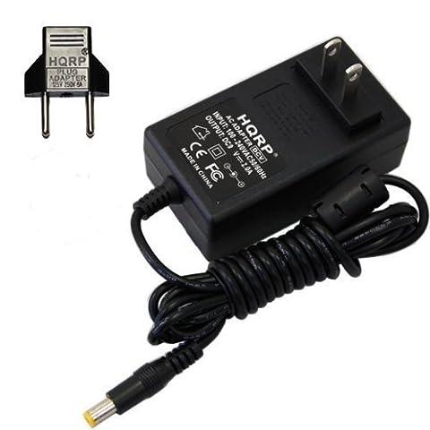 HQRP Netzadapter für DYMO LabelManager 160, 210D elektronische beschriftungsgerät + Euro Stecker Adapter