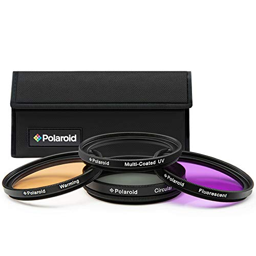 Polaroid Optics 4-teiliges Filter-Set (UV, CPL, FLD, Warming), 40.5mm