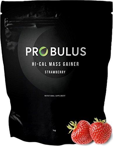 HI-CAL MASS GAINER de Probulus: producto para aumentar la MASA MUSCULAR completamente NATURAL. Ayuda a aumentar la masa magra y a aumentar de peso. Excelente en la fase de BULKING. (fresa)