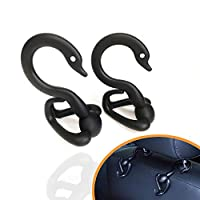 SENWERO Pack of 2 Plastic Car Vehicle Seat Hook, Universal Back Seat Headrest Hanger Holder Hook for Shopping Bag Purse Cloth Coat Grocery Handbags Bags