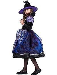 EraSpooky Halloween Viola Strega Vestito Costumi Ragazza dei Bambini 9d8f485907f3