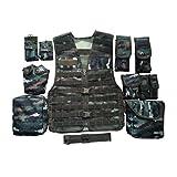 ZWL Weste Army Airsoft MOLLE RRV Angriffskampfweste mit Tasche/Traning Schutzweste für Taktische Jagd Airsoft Outdoor,M