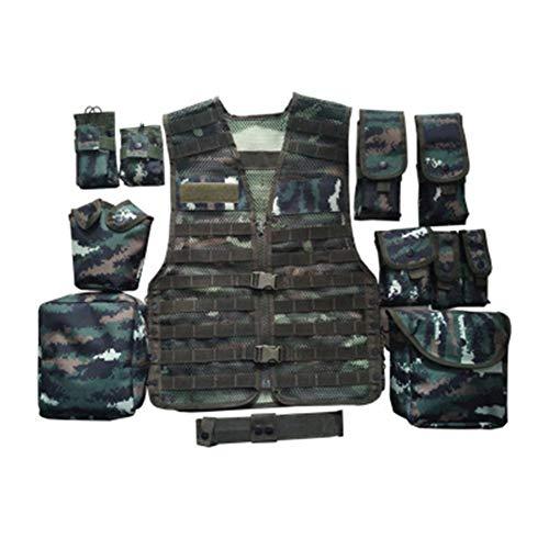 ZWL Weste Army Airsoft MOLLE RRV Angriffskampfweste mit Tasche/Traning Schutzweste für Taktische Jagd Airsoft Outdoor,M - Softair Kinder Für Weste
