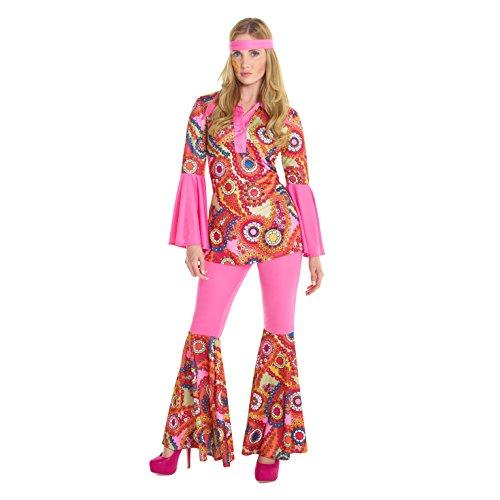 Kind Kostüm Der Hippie Liebe - Damen Hippie Hose Kostüm 60er Jahre Frieden Und Liebe Kleidung Für Halloween Und Karneval - Mittel