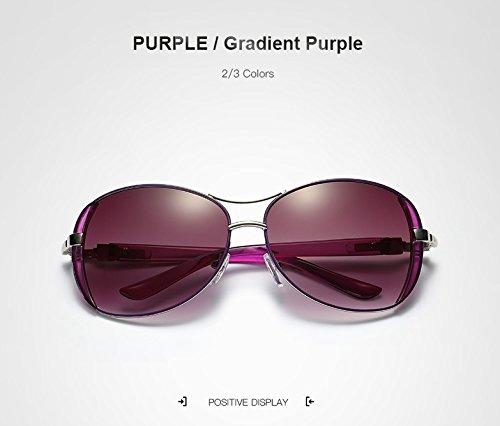 Weichunya Luxusmarke Frauen Sonnenbrille Für Weibliche Neue Elegante Gläser Anteojos De Sol Mujer Sonnenbrille (Color : Purple)