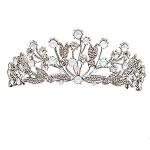 Elegante Strass Barock Braut Vintage Kopfschmuck Krone Hochzeit Ball Brautkrone Strass Kristall Decor Stirnband Diadem