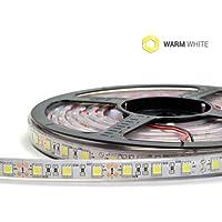 kingled–Strip LED, Tira de 5metros, de 72W 5400Lúmenes, temporal de temperatura blanco cálido 3000K, Bobina con 300LED SMD 5050, transmisión DC12V (impermeable IP67, dimensiones 5000X 13Mm, cod. 0572