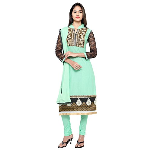 Florence Women's Cotton Top, Bottom And Dupatta Dress Material (Sb-3309_Light Green_Free Size)