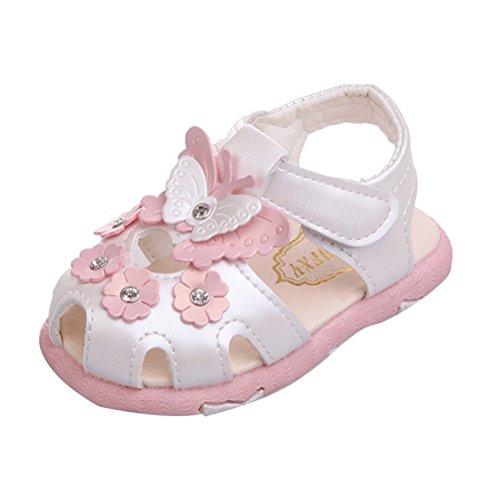 Zhuhaitf Premium Quality Baby Girls PU Leather Soft-Soled Soles white