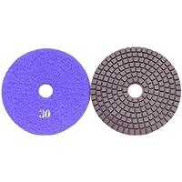 "ATS Premium 100mm (4"") 30 Grit Copper Bonded Diamond Polishing pads concrete granite"