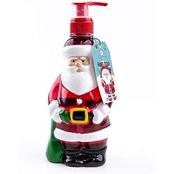 Accentra Seifenspender Weihnachtsmann mit Flüssigseife - Weihnachtliche Seife mit Winter Berry Duft - Weihnachts-deko für das Badezimmer - 300ml Handseife
