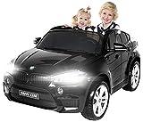 Actionbikes Motors Kinder Elektroauto BMW X6M XXL JY2168 - Lizenziert - 240 Watt Motor - 2,4 Ghz Fernbedienung - Zweisitzer (Schwarz)