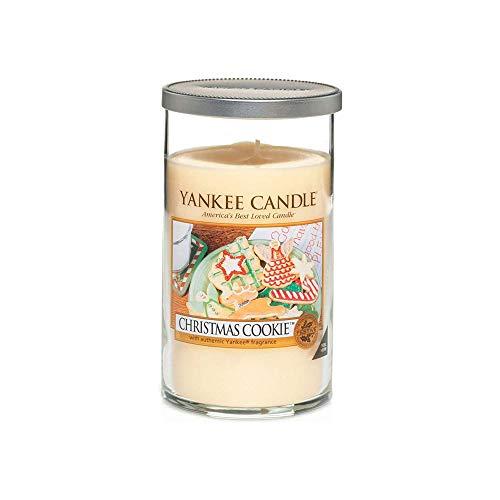 Yankee Candle vela de pilar mediana, Galleta de Navidad, crema