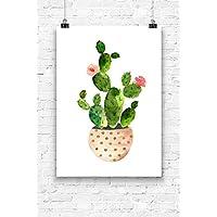 Print Wandbild Poster Bild Wanddeko Kaktus Nr.2 A4