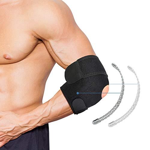 Soporte de Codo, Codera Ajustable con Estabilizador, Codera Tendinitis para Artritis, Codo de Tenista, Lesiones Deportivas, Codo de Golf y...